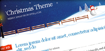 Free Christmas WordPress Theme